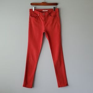Levis Red Slimming Skinny Jeans 28